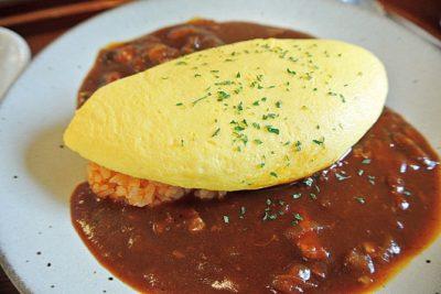 修善寺 no 洋食屋ふわとろ卵にこだわりのハヤシソースを添えて/オムライス特製ハヤシソース1400円