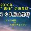 こぐま座流星群のピーク時間と方角は?2016年最後の流星群を観よう!