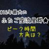 ふたご座流星群のピーク時間と方角は?2016年最後もう一つの流星群は?