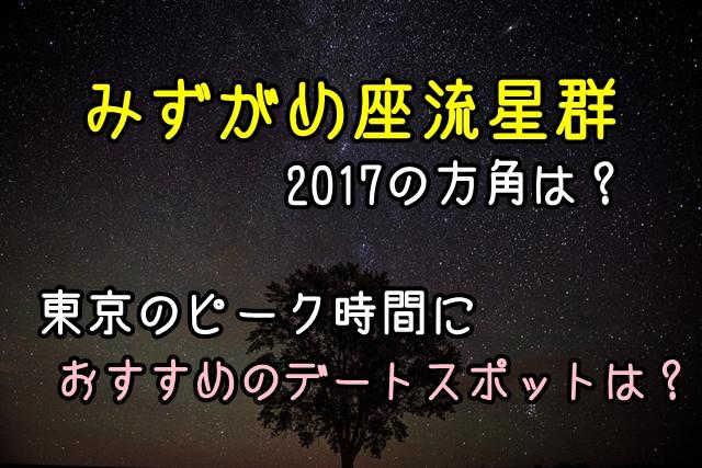 みずがめ座流星群2017の方角は?東京のピーク時間におすすめのデートスポットは?