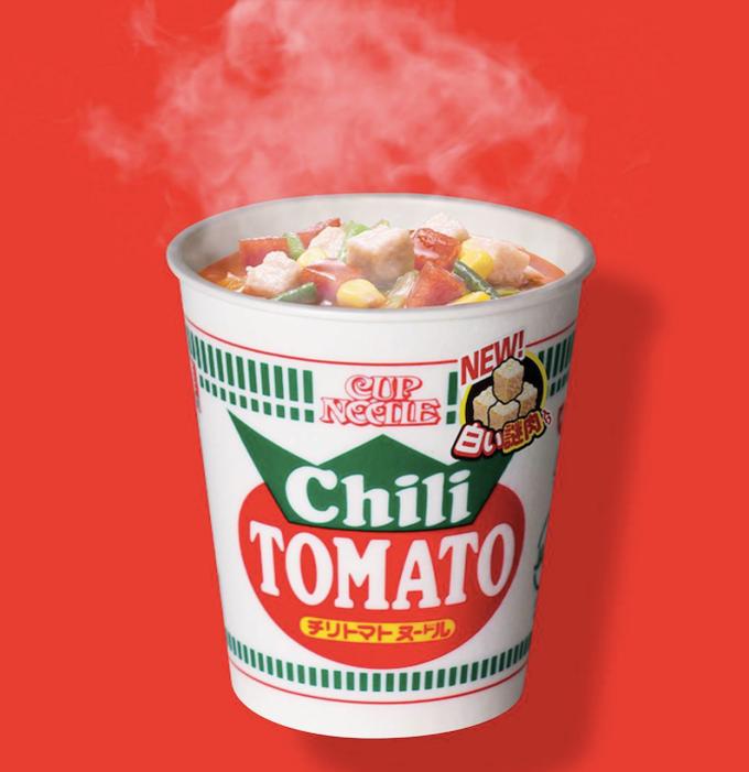 日清,カップヌードル,白い謎肉,チリトマトヌードル
