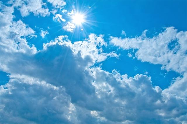 紫外線,夏,太陽,晴れ
