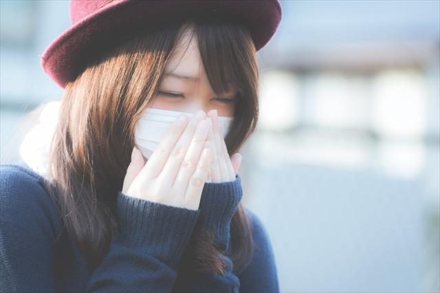 マスク,くしゃみ,花粉症