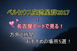 ペルセウス座流星群2017を名古屋デートで見る!方角と時間、おすすめの場所5選!