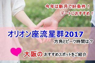 オリオン座流星群2017の方角は?ピーク時間に大阪で見よう!おすすめスポットをご紹介