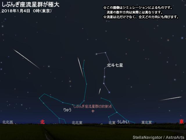 しぶんぎ座流星群,2018,方角,ピーク,時間,大阪,デート,おすすめ,スポット,流れ星,星,今日