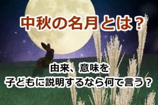 中秋の名月とは?由来や意味を子どもに説明するなら何て言う?