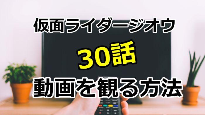 仮面ライダージオウ30話の動画を観る方法